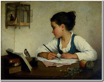 512px-Browne,_Henriette_-_A_Girl_Writing;_The_Pet_Goldfinch_-_Google_Art_Project